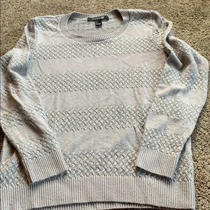 Silver and gray sweater